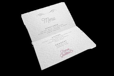 Menu ristorante: Stampa Online, Conviene! : Rendi unico il ricevimento del tuo matrimonio. Realizza con Sprint 24 i menu ristorante personalizzati per le tue nozze.
