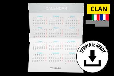 Calendario Tascabile 8,5x11 cm: Modelli di template pronti da scaricare e personalizzare: - Clan Download file Indesign (CC e versioni precedenti) e PDF Alta Risoluzione  Cerchi delle foto da inserire nel calendario? Prova uno dei nostri set fotografici